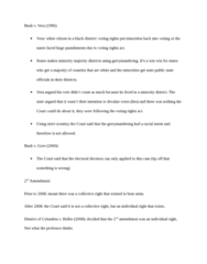 LAWS 2180 Study Guide - Strict Scrutiny, Majority Minority, Commerce Clause