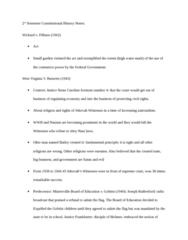 LAWS 2180 Study Guide - Minersville School District V. Gobitis, Joseph Franklin Rutherford, Judicial Restraint