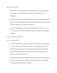 LAWS 2180 Lecture Notes - Southern Manifesto, Leo Frank, Strict Scrutiny