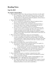 SOC446H5 Chapter Notes -Sadistic Personality Disorder, Denotation, Mania