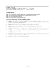 SOC 202 Lecture Notes - Balloon Payment Mortgage, Cash Flow, The Monthly