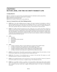 SOC 202 Lecture Notes - Risk-Free Interest Rate, Risk Premium, Squared Deviations From The Mean