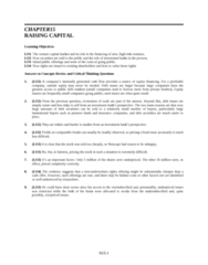 SOC 202 Lecture Notes - Liquid Oxygen, Efficient-Market Hypothesis, Underwriting
