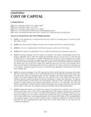 SOC 202 Lecture Notes - Project Y, Weighted Arithmetic Mean, Capital Budgeting