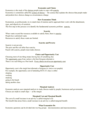 ECO 211 Chapter Notes - Chapter 1: Economics, Marginal Cost, Marginal Utility