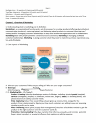 MKT 201 Study Guide - Midterm Guide: Habitat, Loyalty Program, Human Resource Management