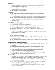 HIST 208 Study Guide - Midterm Guide: Faxian, Lelang Commandery, Erlitou Culture