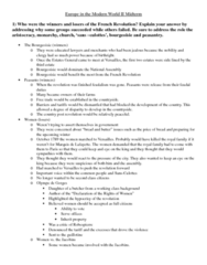 HIST 1031 Study Guide - Midterm Guide: Aristocracy, Young Germany, Young Ireland