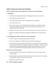POL 3115 Lecture Notes - Liberal Democracy, Longwave, Domino Theory