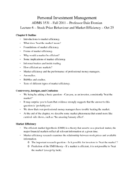 ADMS 3531 Lecture Notes - Risk Aversion