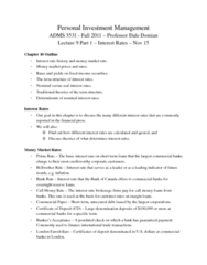 ADMS 3531 Lecture Notes - Indonesian Rupiah