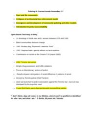 CRIM 2652 Study Guide - Racial Profiling, Toronto Star, Intermediate Scrutiny