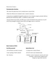 ES 342 Study Guide - Final Guide: Myasthenia Gravis, Neuromuscular Junction, Cranial Nerves