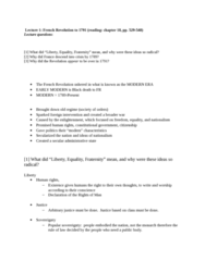 HIST 106 Lecture Notes - Food Riot, Great Fear, Tennis Court Oath