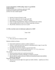 HIST 106 Lecture Notes - Lecture 6: House Of Bourbon, Francophile, July Revolution