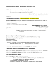 ECON 1010 Study Guide - Aggregate Demand, Aggregate Supply, Potential Output