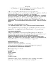 BIOL 2020 Lecture Notes - Hydrolysis, Mapk1, Caenorhabditis