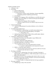 ANTH 103 Lecture Notes - Primatology