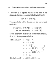 STAT312 Lecture Notes - Global Positioning System, Projection Matrix, Idempotent Matrix