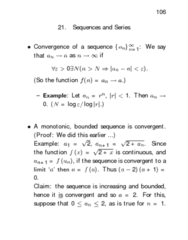 STAT312 Lecture Notes - Absolute Convergence, Ratio Test, Bounded Function