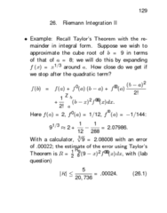 STAT312 Lecture Notes - Taylor Series, Antiderivative, Riemann Integral