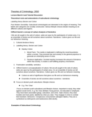 CRIM 2650 Study Guide - Final Guide: Standpoint Theory, Labeling Theory, Enculturation
