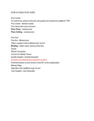ECON 101 EXAM 2 STUDY GUIDE