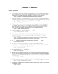 ITM 315 Chapter Notes - Chapter 10: Network Address Translation, User Account Control, Key Distribution Center