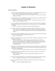 ITM 315 Chapter Notes - Chapter 11: Chkdsk, Cmd.Exe, Group Policy