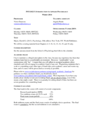 PSY 1102 Lecture Notes - Inter-Services Public Relations, Psy