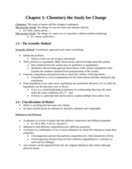CHEM 1F92 Chapter Notes - Chapter 1: Volumetric Flask, Intensive And Extensive Properties, Graduated Cylinder