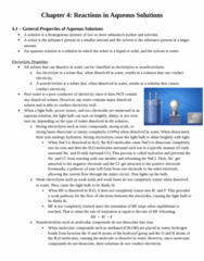 CHEM 1F92 Chapter Notes - Chapter 4: Chemical Equation, Spectator Ion, Alkaline Earth Metal