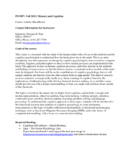 PSYB57H3 Lecture Notes - Functional Magnetic Resonance Imaging, Functional Neuroimaging, Cognitive Psychology