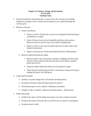 ECON 1010 Chapter Notes - Chapter 23: Real Interest Rate, Nominal Interest Rate, Credit Union
