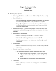 ECON 1010 Chapter Notes - Chapter 30: Overnight Rate, Open Market Operation, Foreign Exchange Market