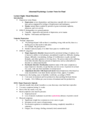 Psychology 2310A/B Study Guide - Final Guide: Anhedonia, Avolition, Alogia