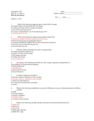 Geography 2143A/B Study Guide - Quiz Guide: Iphone 4, Danish East India Company, Tmx Group