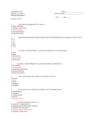 Geography 2143A/B Study Guide - Quiz Guide: Gendercide, Feticide, Jagdish Bhagwati