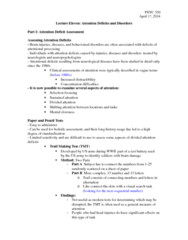 PSYC 330 Lecture Notes - Lecture 11: Antioxidant, Adderall, Encephalitis