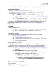 PSYC 330 Lecture Notes - Lecture 7: Phosphene, Firstgroup, Tachistoscope
