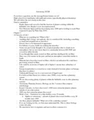 Astronomy 2021A/B Study Guide - Final Guide: Proterozoic, Hadean, Archaea