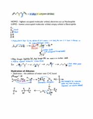 CHEM 236 Lecture Notes - Lecture 8: Electrophile, Nucleophile, Alkene