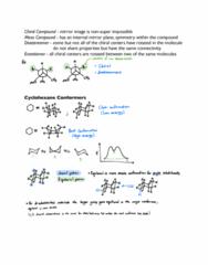 CHEM 236 Lecture Notes - Lecture 14: Cyclohexane, Enantiomer, Diastereomer