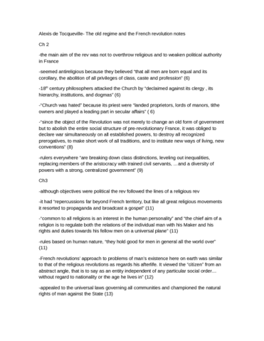 alexis-de-tocqueville-french-rev-notes-docx