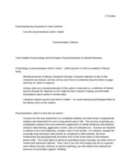 E 341 Lecture Notes - Dreamwork, Reality Principle, Scara