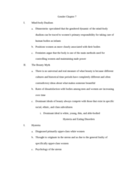 SOC 0851 Chapter Notes - Chapter 7: Body Dysmorphic Disorder, Masculinity, Lipo Language