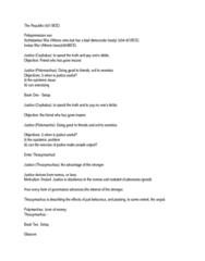 Philosophy 1130F/G Lecture Notes - Cephalus, Glaucon, Thrasymachus