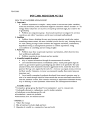PSYC2001 Full Notes for the Entire Year