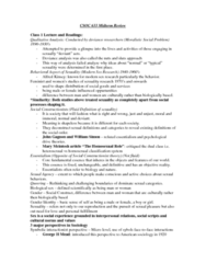 SOC 633 Study Guide - Midterm Guide: John Gagnon, Essentialism, The Negotiation