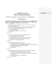 ANTH 1150 Study Guide - Midterm Guide: Edward Sapir, Social Reproduction, Bundesautobahn 44
